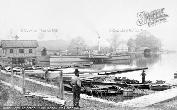 Bowness-On-Windermere, Boat Station c1885.  (Neg. 6126)  � Copyright The Francis Frith Collection 2008. http://www.francisfrith.com