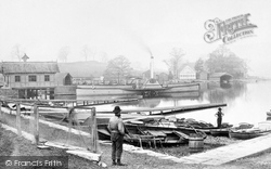 Bowness-on-Windermere, Boat Station c.1885