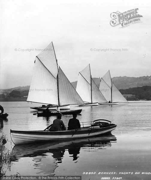 Bowness On Windermere, Boating 1896