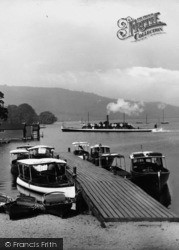 Bowness-on-Windermere, Boats And A Steamer1925, Bowness-on-Windermere