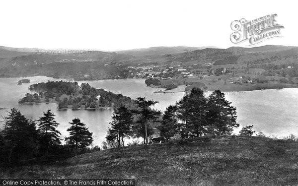 Bowness On Windermere, From Furness Fell 1887