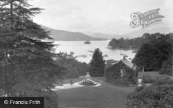 Bowness-on-Windermere, Lake Windermere From The Belsfield Hotel c.1955, Bowness-on-Windermere