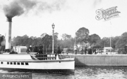Bowness-on-Windermere, Paddle Steamer At The Pier 1887, Bowness-on-Windermere