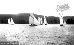 Bowness-on-Windermere, Sailing Boats 1896