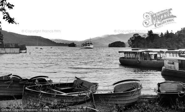 Bowness On Windermere, The Arrival Of The 'teal' c.1955