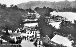 Bowness-on-Windermere, The Promenade And Pier c.1920, Bowness-on-Windermere