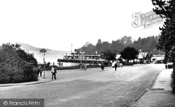 Bowness-on-Windermere, The Steamer Pier And Promenade c.1955