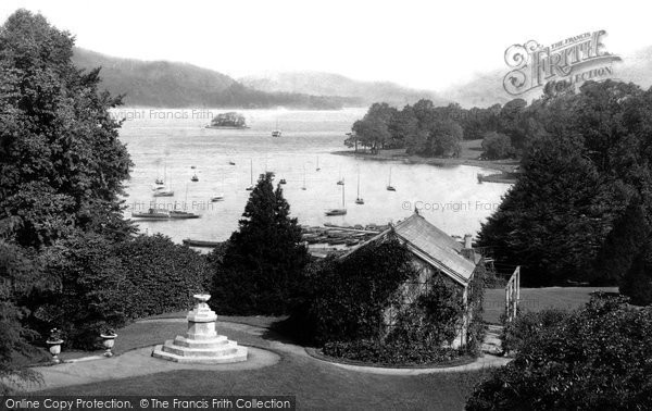 Bowness On Windermere, View From Belsfield Hotel 1896