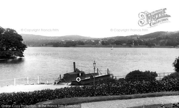 Bowness On Windermere, View From Ferry Hotel 1896