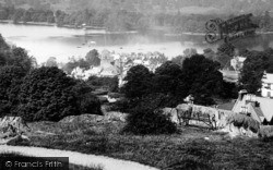 Bowness-on-Windermere, View Towards Belle Island 1893, Bowness-on-Windermere