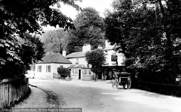 Photo of Box Hill, Burford Bridge Hotel 1897