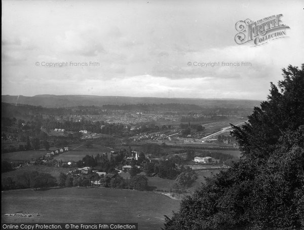 Box Hill, Dorking From The Memorial 1924