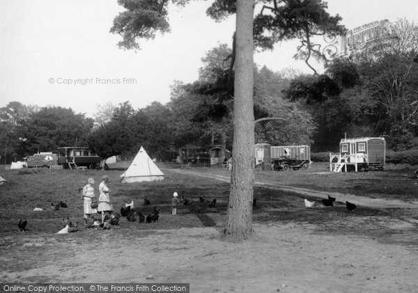 Box Hill, Feeding The Hens, Upper Farm Camping Ground 1928
