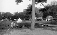 Box Hill, Feeding The Hens, Upper Farm Camping Ground 1928