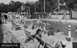 Box Hill, The Bathing Pool c.1955