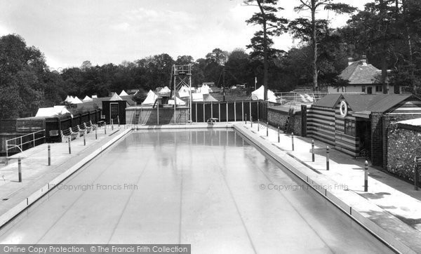 Photo of Box Hill, Upper Farm Swimming Pool 1938