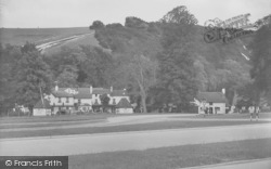 Box Hill, View From Boxhill, Showing The Burford Bridge Hotel 1939