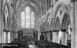 Priory Church Interior 1899, Boxgrove