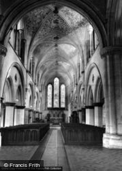 Priory Church Interior c.1955, Boxgrove