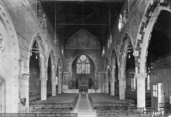 Boyn Hill, All Saints Church interior 1911