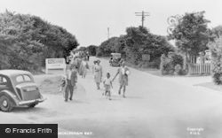 Bracklesham, Road To The Beach c.1955
