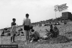 Bracklesham, Swimmers c.1950, Bracklesham Bay