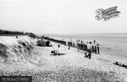 Bracklesham, The Gap East c.1955