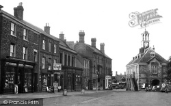 Market Place And Town Hall c.1955, Brackley