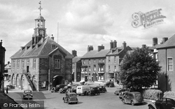 Town Hall And Market Place c.1955, Brackley