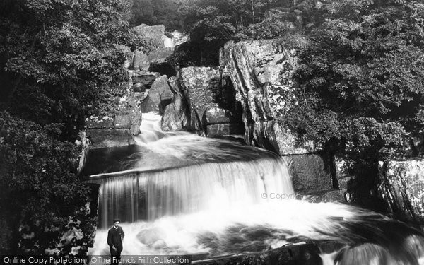 Bracklinn, Upper Falls From Bridge 1899