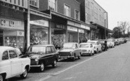 Bracknell, Shops And Cars On The Broadway c.1960