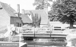 Bradfield, Old Cottages And Mill Stream c.1955