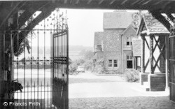 Bradfield, View Through College Entrance c.1960