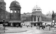 Bradford, Alhambra and New Victoria Theatre c1950