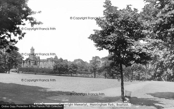 Photo of Bradford, Cartwright Memorial, Manningham Park c.1955
