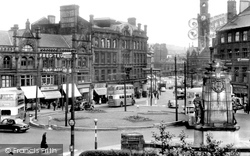 Bradford, From Morley Street Towards Town Hall Square c.1955