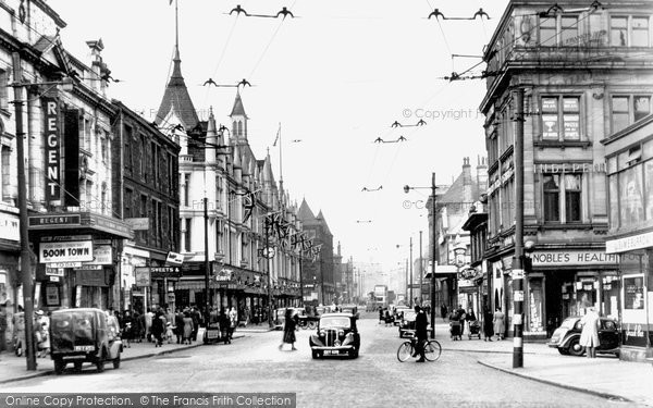 Photo of Bradford, Manningham Lane c1950