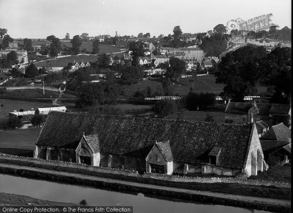 Bradford On Avon, Elevated Rear View Of Tithe Barn c.1900