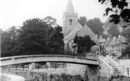 Bradford-on-Avon, Footbridge And Holy Trinity Church c.1955