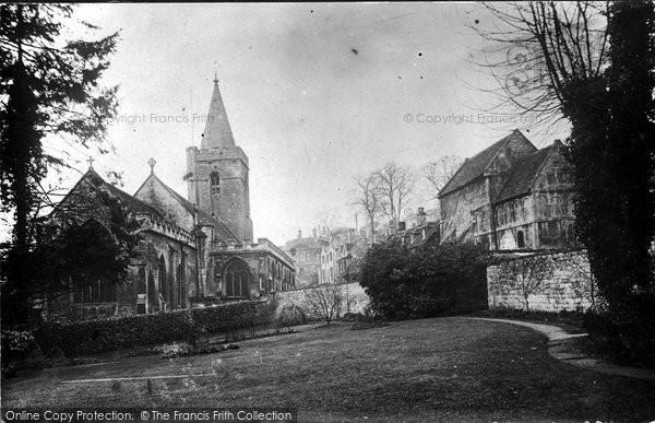 Bradford On Avon, Holy Trinity Church And Saxon Church 1914