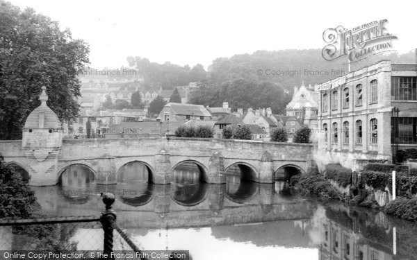 Bradford On Avon, The Bridge And Town c.1955