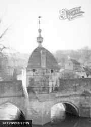 Bradford-on-Avon, The Town Bridge And Lock-Up 1951