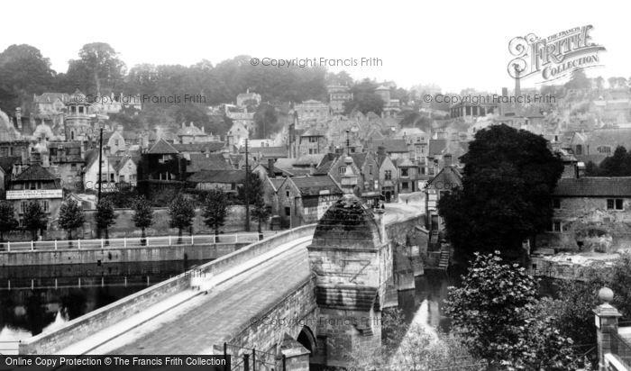 Bradford On Avon, Town And Bridge 1900