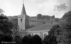 Bradford-on-Avon, Trinity Church From Vicarage Garden c.1900
