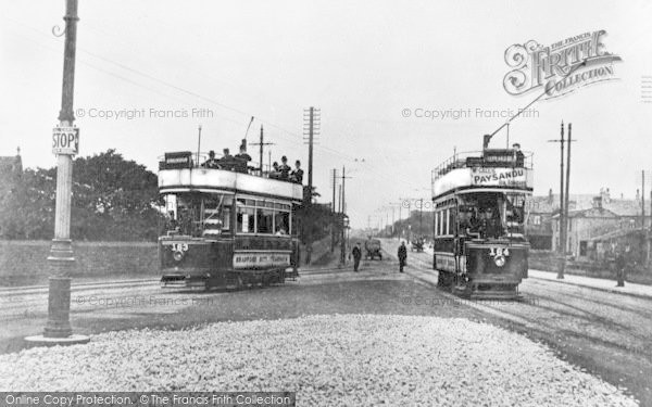 Photo of Bradford, Open Top Trams At Tong Cemetery c.1904