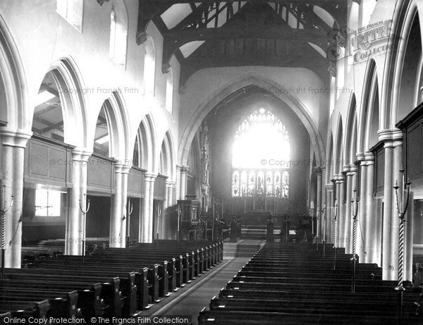 Bradford, St Peter's Church, Nave Looking East 1890