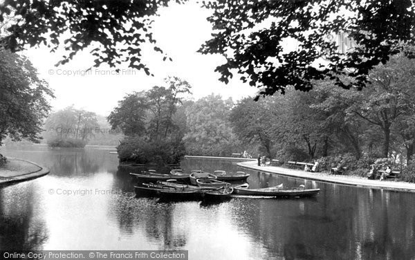 Photo of Bradford, The Lake, Lister Park c.1950