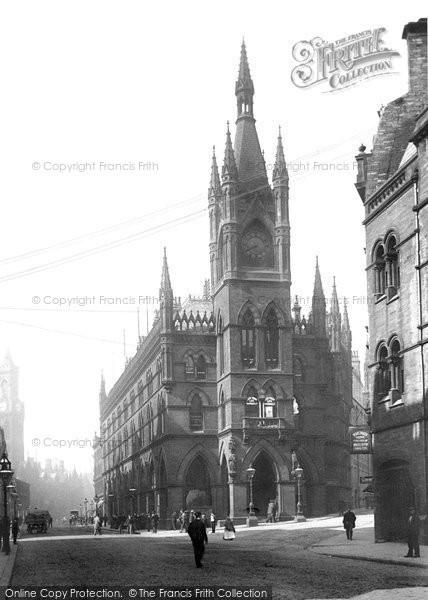 Bradford, The Wool Exchange And Market Street 1897