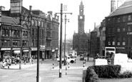 Bradford, Towards Town Hall Square c.1950
