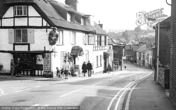 Photo of Brading, High Street and the Kyng's Towne Museum c1969